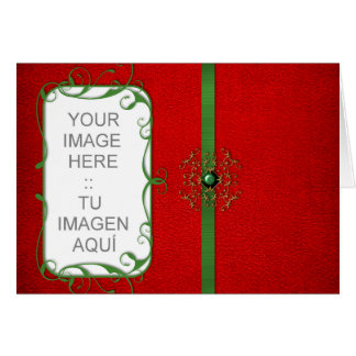 Tarjeta Customizable Christmas card template