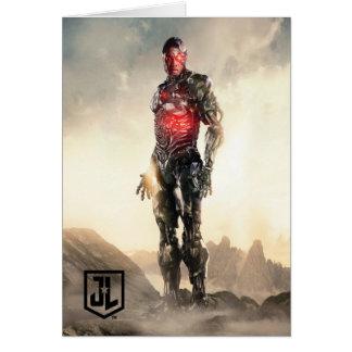 Tarjeta Cyborg de la liga de justicia el | en campo de