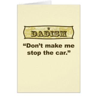 Tarjeta Dadism - no haga que para el coche