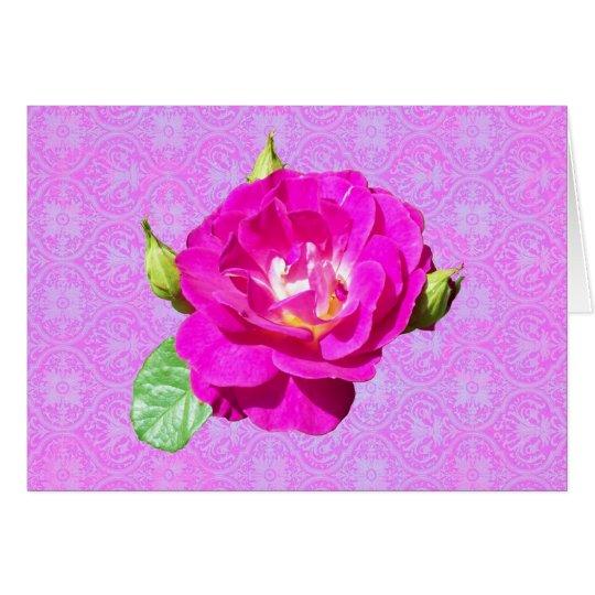 Tarjeta Damasco color de rosa violeta