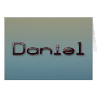 Tarjeta Daniel