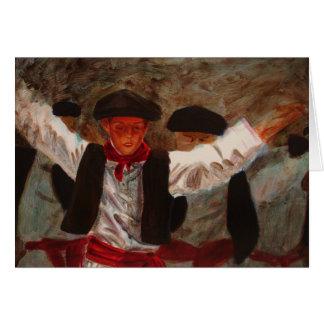 Tarjeta Dantzaritxiti - bailarín vasco