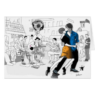 Tarjeta Danza de New Orleans
