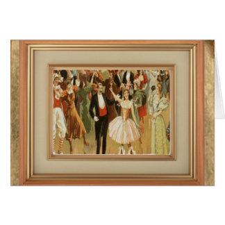 Tarjeta Danza de salón de baile del vintage Notecard de