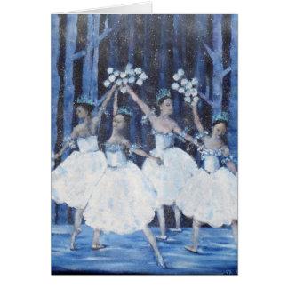 Tarjeta Danza del ballet del cascanueces de los copos de