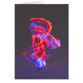 Tarjeta Danza del nativo americano - rojo - notecards