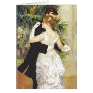 Tarjeta Danza en la ciudad por Renoir