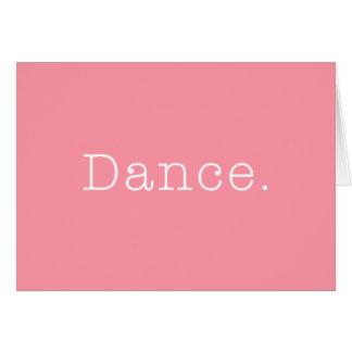 Tarjeta Danza. Plantilla rosa clara de la cita de la danza