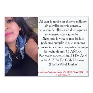Tarjeta De 15 Años Invitación 12,7 X 17,8 Cm