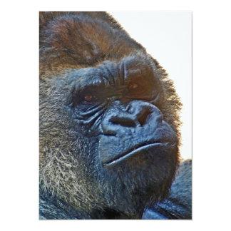 Tarjeta de agradecimiento con Gorila Invitación 13,9 X 19,0 Cm