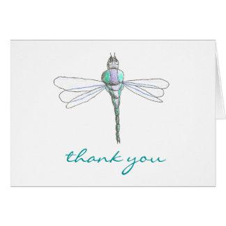 Tarjeta De agradecimiento de la libélula de los gráficos
