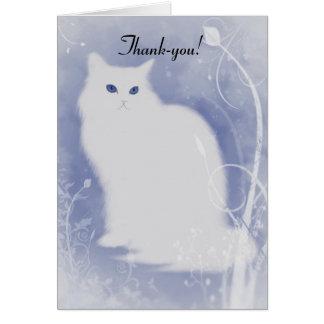 Tarjeta De agradecimiento del navidad del gato