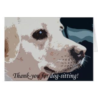 Tarjeta De agradecimiento para perro-sentarse