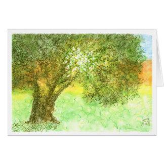 Tarjeta de Aleph del árbol del verano