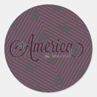 Tarjeta de América Pegatina Redonda