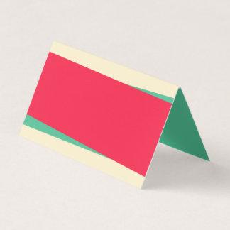 Tarjeta De Asiento Añada a su propia Sandy verde del texto y ligera