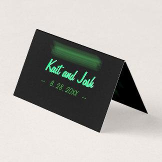 Tarjeta De Asiento Asiento elegante minimalista de la menta del verde