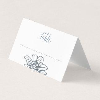 Tarjeta De Asiento Azules polvorientos y se ruborizan las flores que