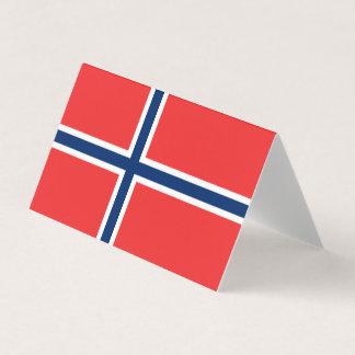 Tarjeta De Asiento Bandera de Noruega