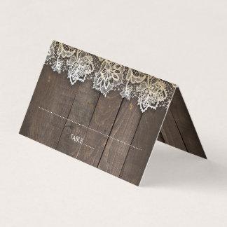 Tarjeta De Asiento El tarro de albañil de madera del cordón enciende