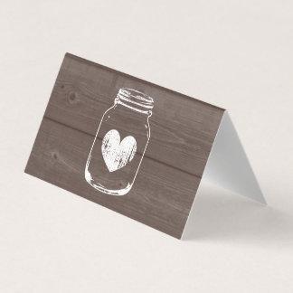 Tarjeta De Asiento La impresión de madera de encargo dobló las