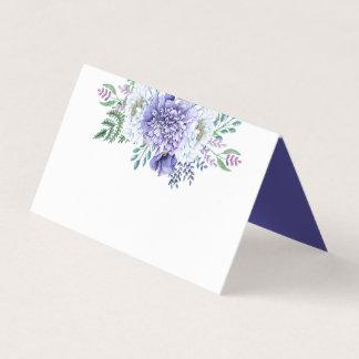 Tarjeta De Asiento Los Peonies púrpuras y blancos aclaran el frente