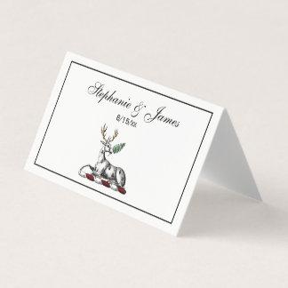 Tarjeta De Asiento Macho de los ciervos con el emblema heráldico del
