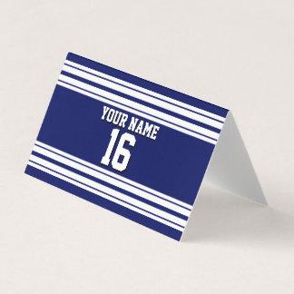 Tarjeta De Asiento Nombre de encargo blanco del número del jersey de