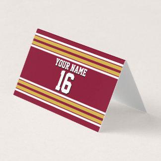 Tarjeta De Asiento Nombre del número de Custm del jersey de equipo