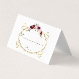 Tarjeta De Asiento Número floral elegante de la tabla de la caída de