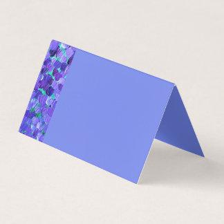 Tarjeta De Asiento Pétalos púrpuras