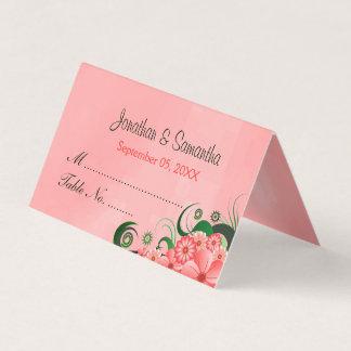 Tarjeta De Asiento Tabla doblada rosa oscuro floral elegante del