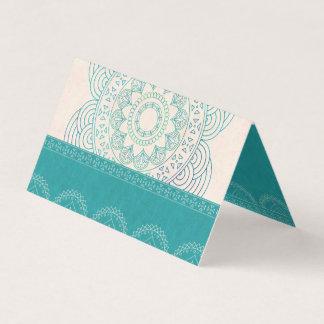 Tarjeta De Asiento Tabla elegante del boda del trullo de la mandala