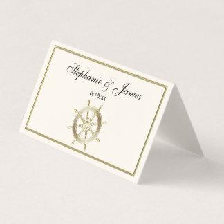 Tarjeta De Asiento Wheel de capitán/marfil del oro de la rueda de la