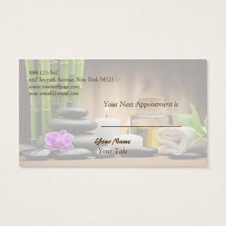 Tarjeta de bambú de la cita del masaje del