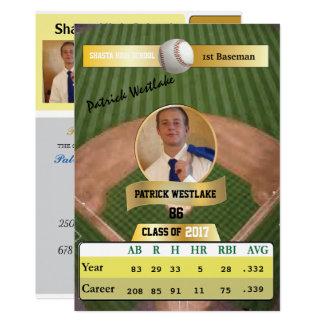 Tarjeta de béisbol con las invitaciones del invitación 12,7 x 17,8 cm