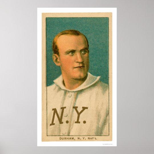 Tarjeta de béisbol de Bull Durham 1909 Póster