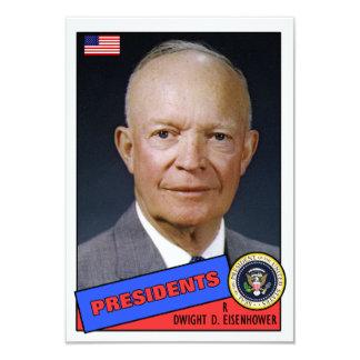 Tarjeta de béisbol de Dwight D. Eisenhower Invitación 8,9 X 12,7 Cm