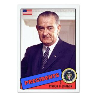 Tarjeta de béisbol de Lyndon B. Johnson Invitación 8,9 X 12,7 Cm