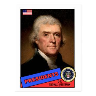 Tarjeta de béisbol de Thomas Jefferson Postal