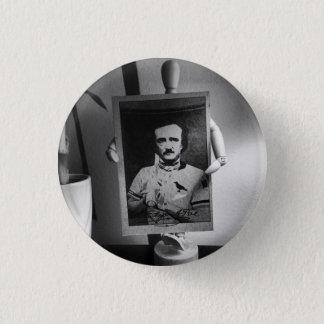 Tarjeta de béisbol del botón de Edgar Allan Poe
