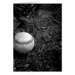 Tarjeta de béisbol del feliz cumpleaños