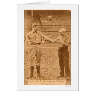 Tarjeta de béisbol del vintage 1887