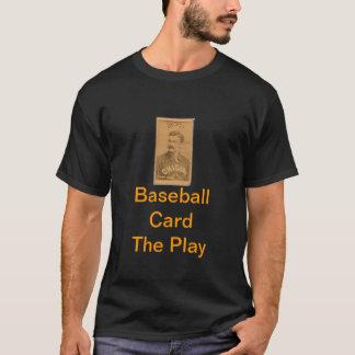 Tarjeta de béisbol la camiseta del juego
