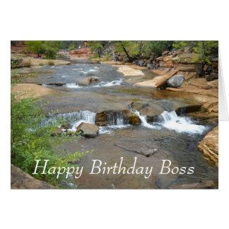 Tarjeta de Boss del feliz cumpleaños