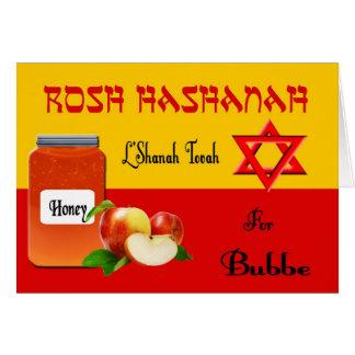Tarjeta de Bubbe Rosh Hashanah