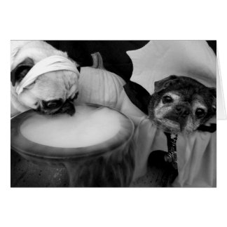 Tarjeta de Bumblesnot Halloween: Algo que elabora