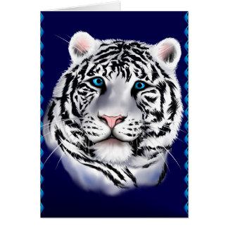 Tarjeta de cara blanca del tigre
