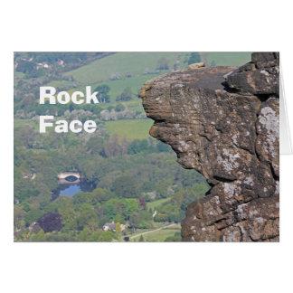 Tarjeta de cara de la roca