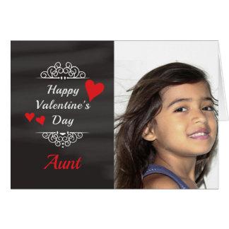 Tarjeta de Chalkboard Photo de tía Valentine's